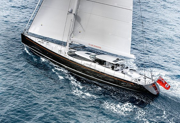 BLISS Under Sail Aerial View