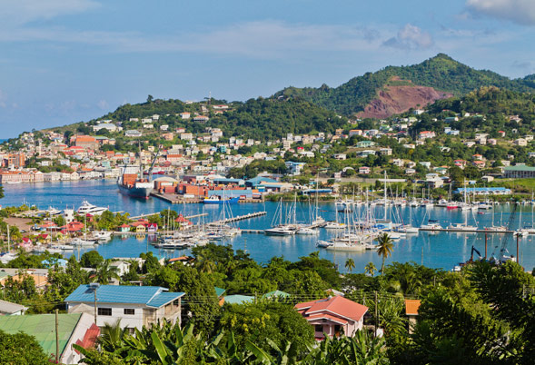 St Georges Harbour in Grenada