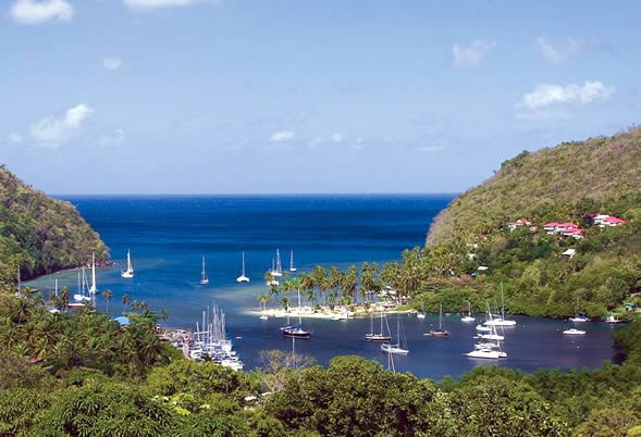Marigot Bay Anchorage, St Lucia