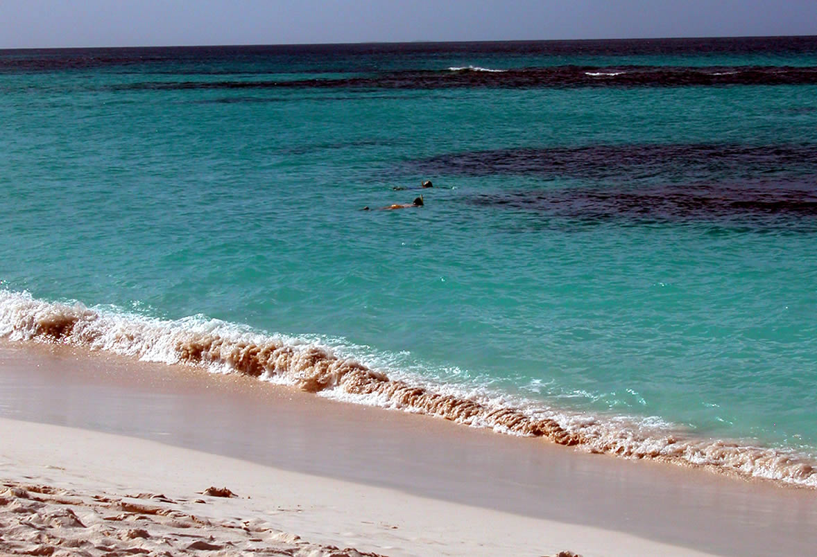 Anguilla beach on yacht charter