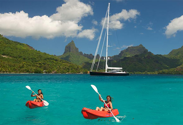 BLISS Kayaks in Tahiti