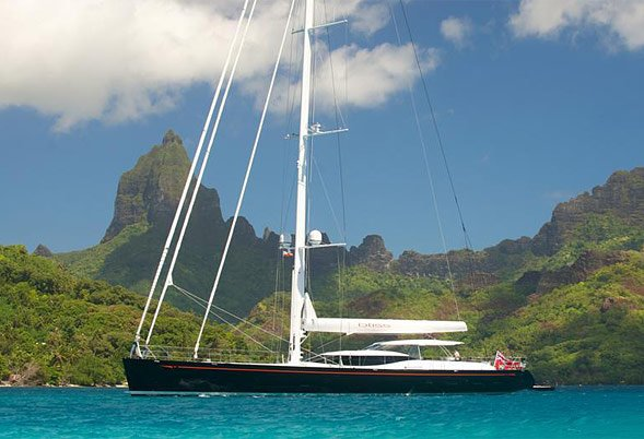 BLISS At Anchor in Tahiti