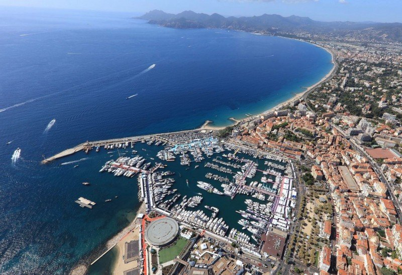 Cannes Yacht Show Aerial View