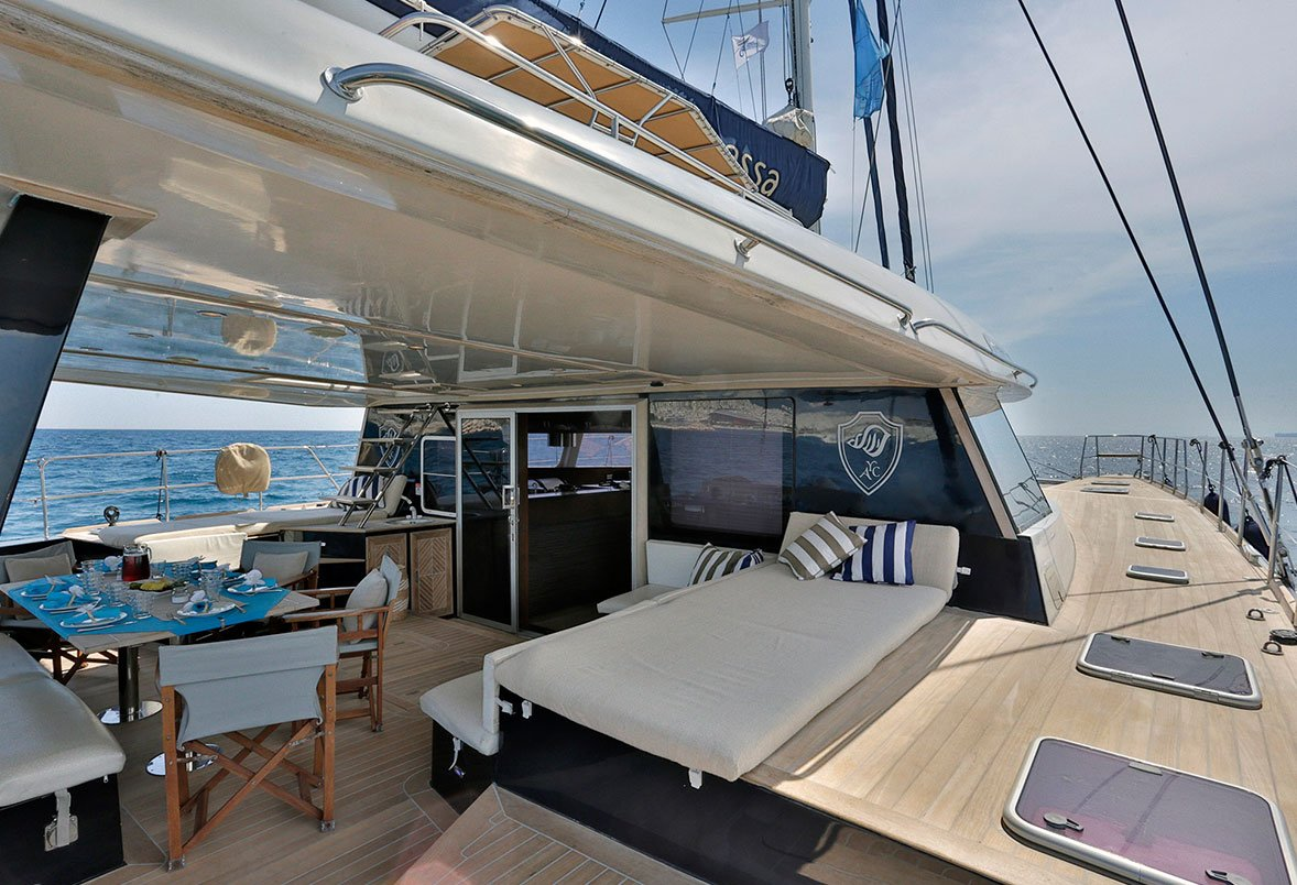 ANASSA Aft Deck Looking Forward