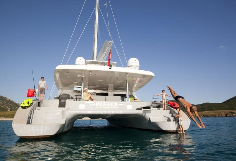 MAVERICK - catamaran à voile le plus convoité dans les Bahamas