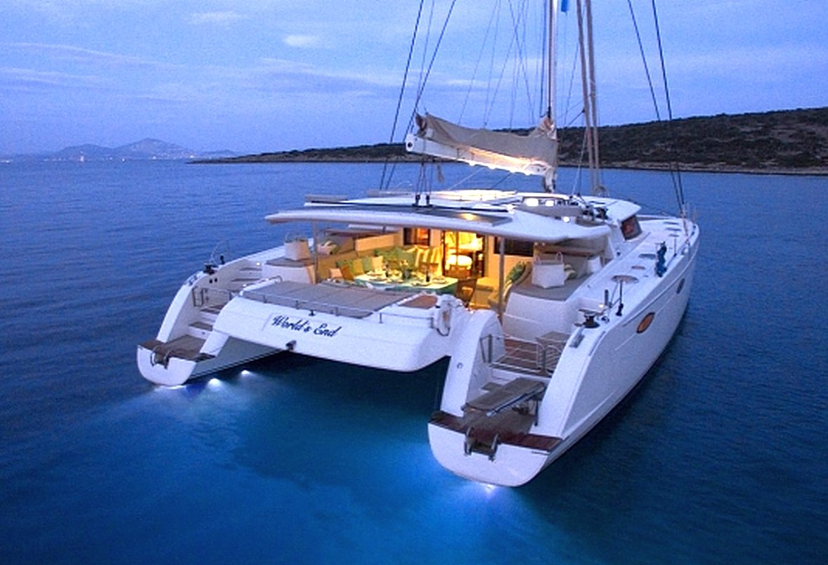 Home At The Beach Decor Charter Sailing Catamaran World S End In Greece Luxury