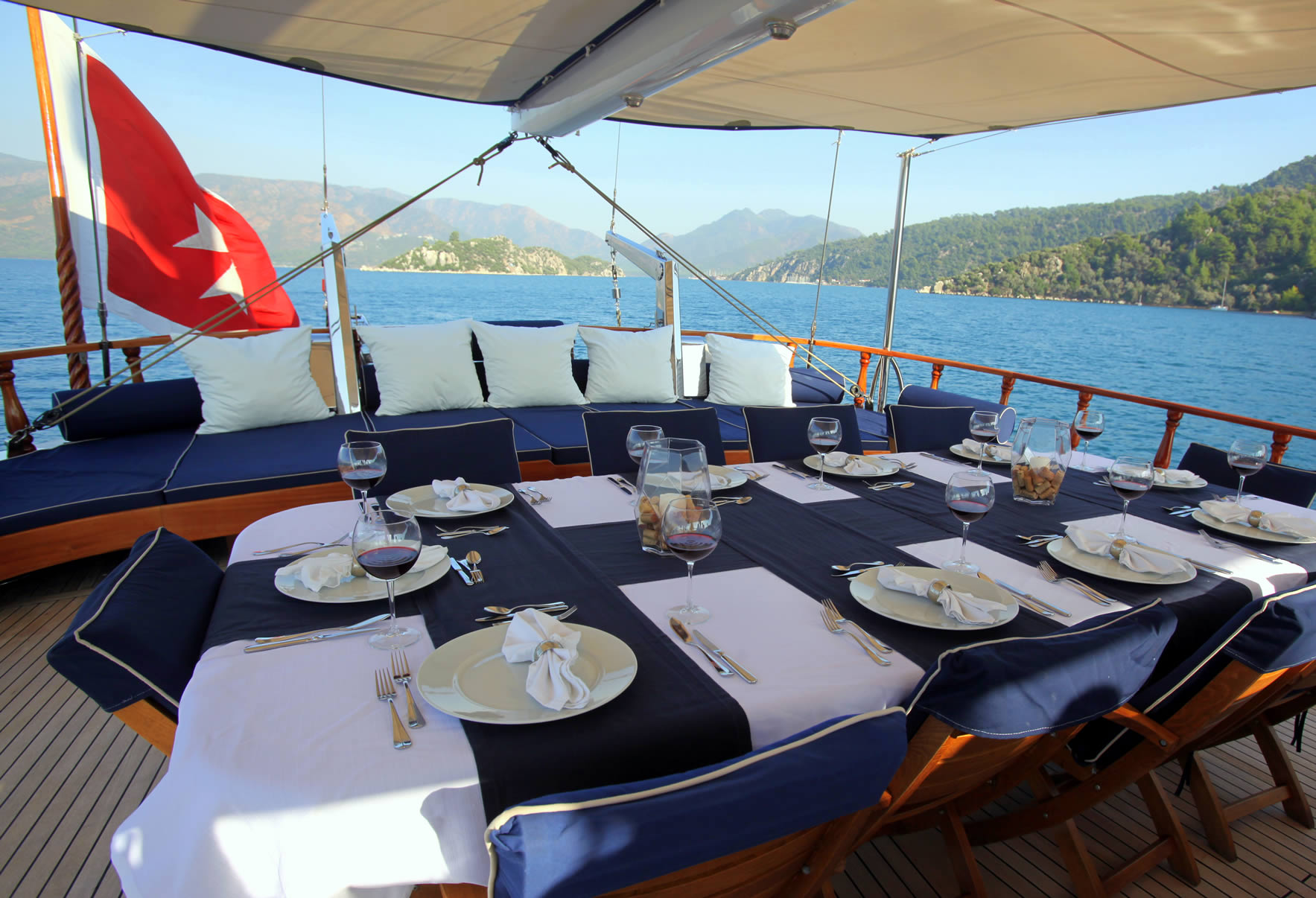 QUEEN OF DATCA Aft Deck Dining