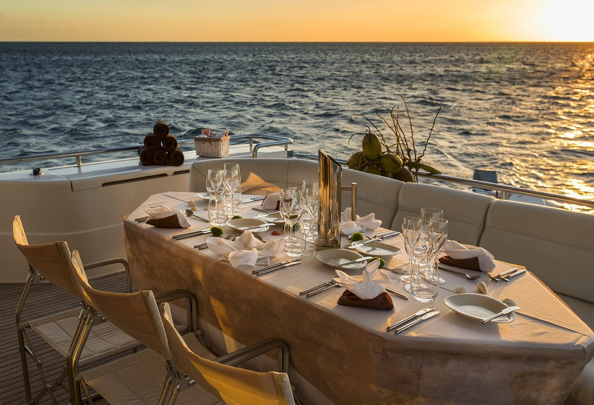 IROUE Aft Deck Sunset Dining