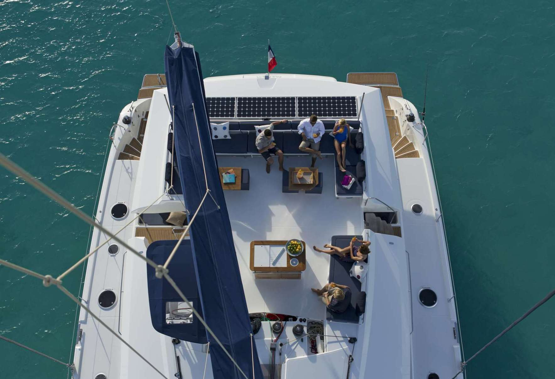 Charter Catamaran NENNE Looking Down