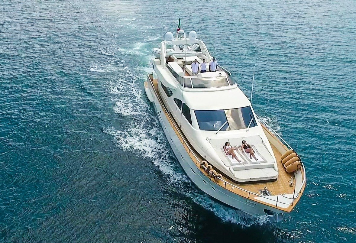 Charter Yacht RIVIERA Forward Aerial View