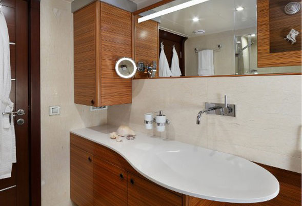 Daima master suite bathroom