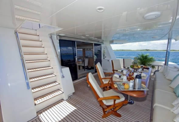 Diamond Girl aft deck