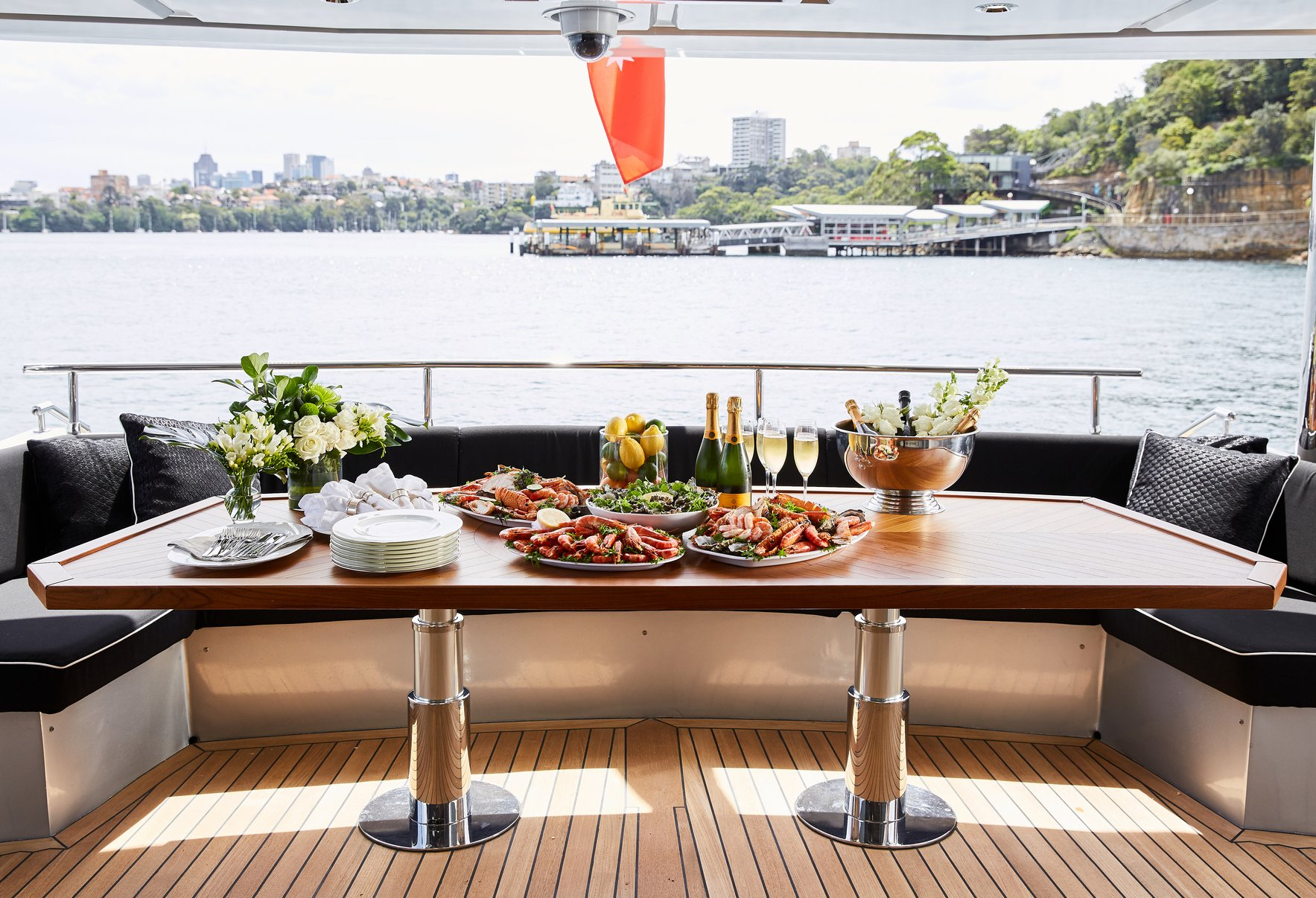 GHOST II Aft Deck Dining
