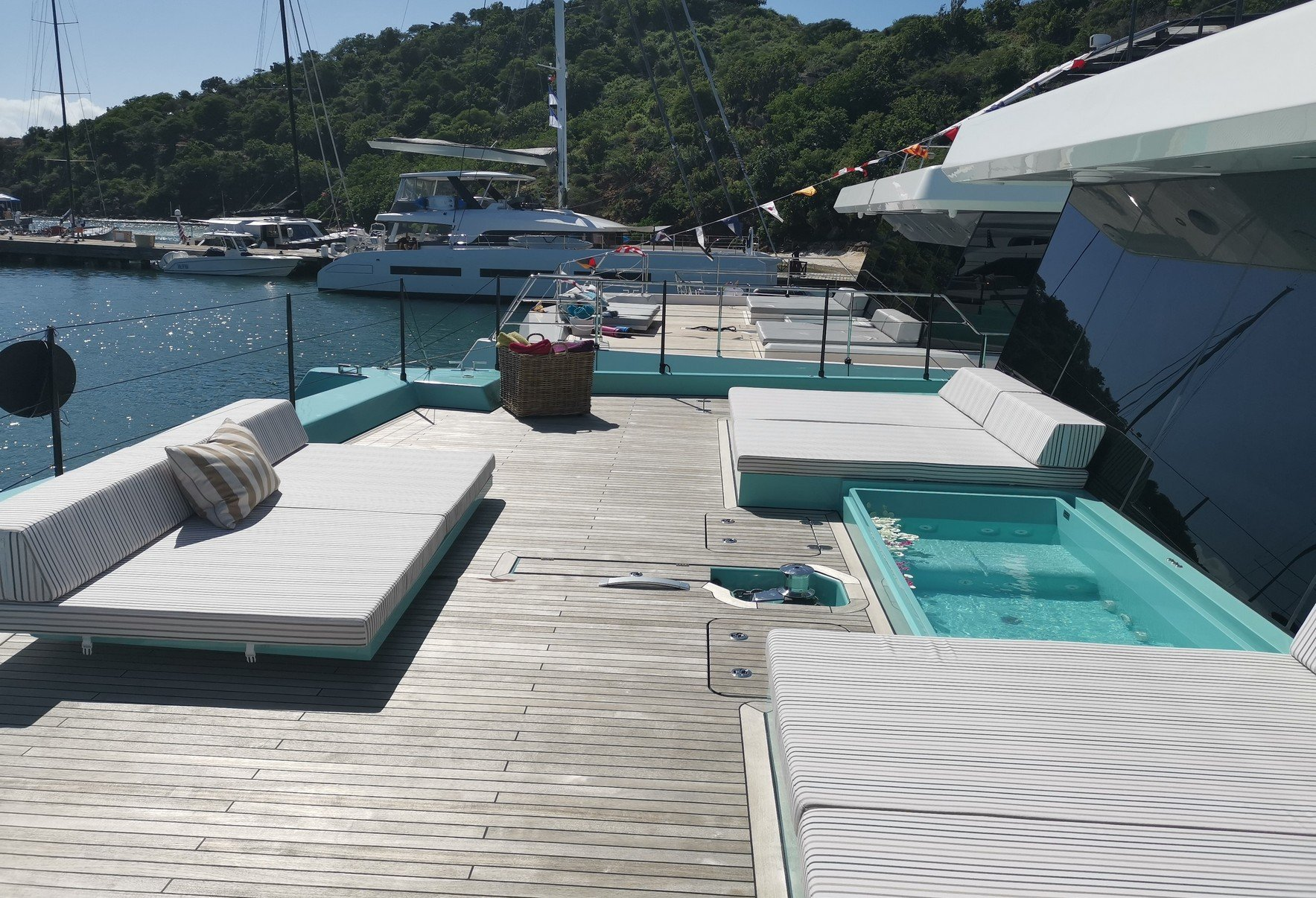 CHRISTINA TOO Foredeck Showing Jacuzzi
