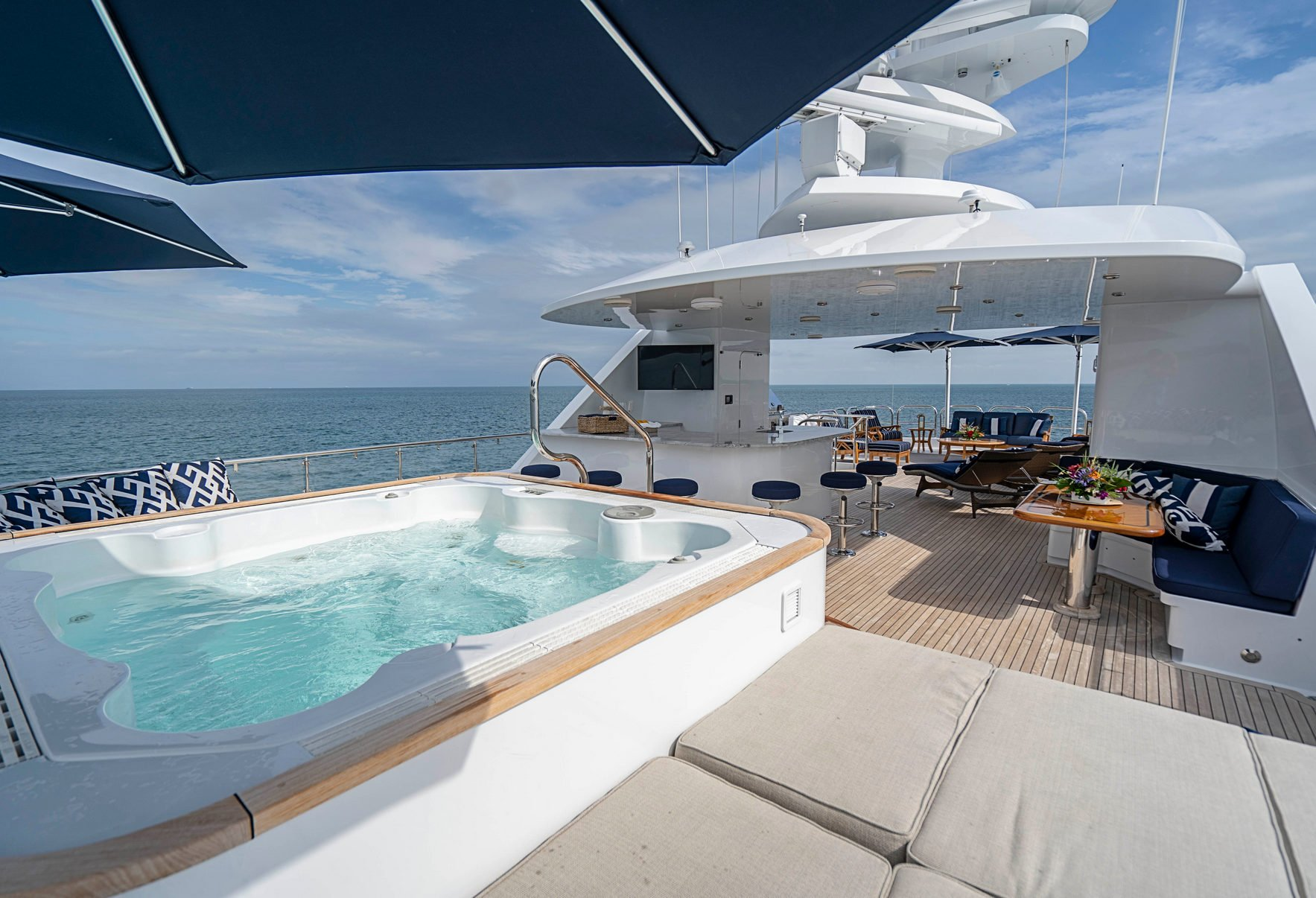 AQUASITION Sun Deck Looking Aft