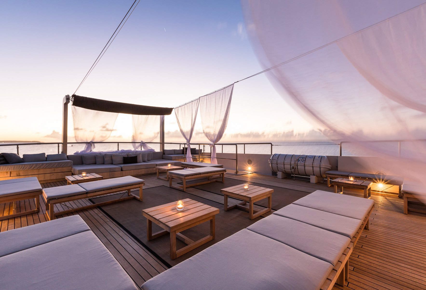 MARIU Sun Deck at Sunset