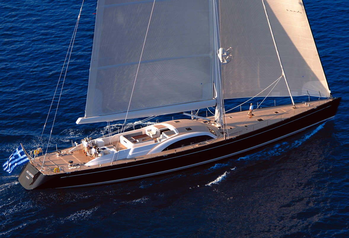 Charter Swan sailing yacht Aristarchos in Greece - Luxury ...