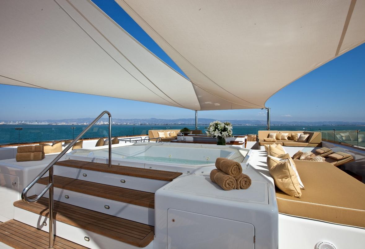 Luxury Expedition Yacht SURI Sun Deck Jacuzzi