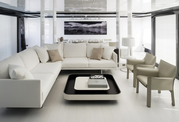Motor Yacht Arcadia JURATA Spacious and Bright Interior