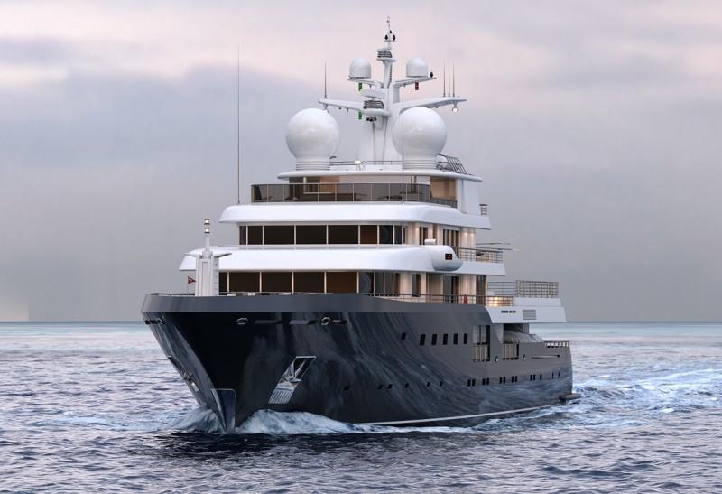 PLANET NINE is a 5-deck, 73m ice-class megayacht