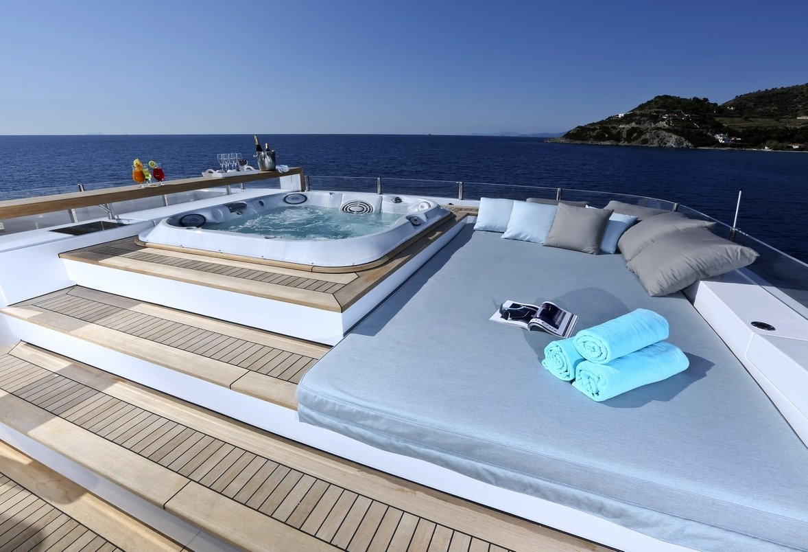 Charter Yacht OURANOS Sun Deck Jacuzzi