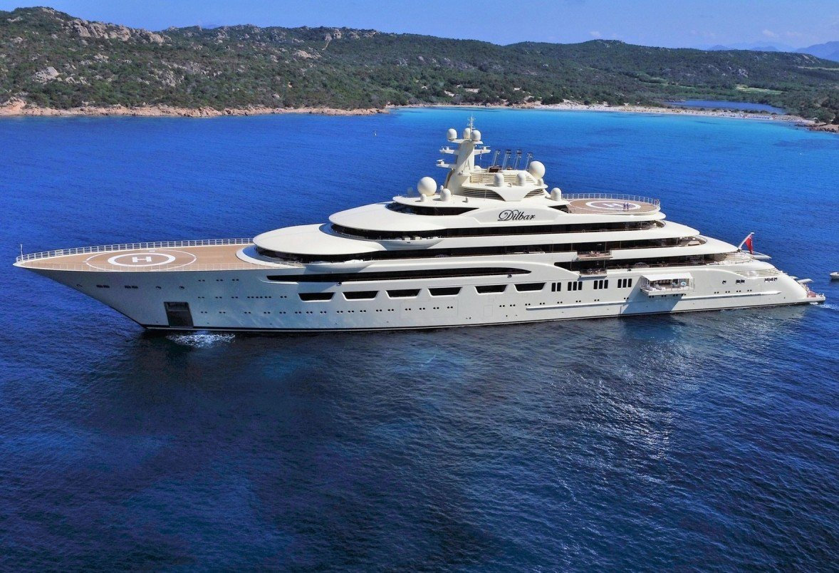 Mega Yacht Dilbar Superb Quality Design Build