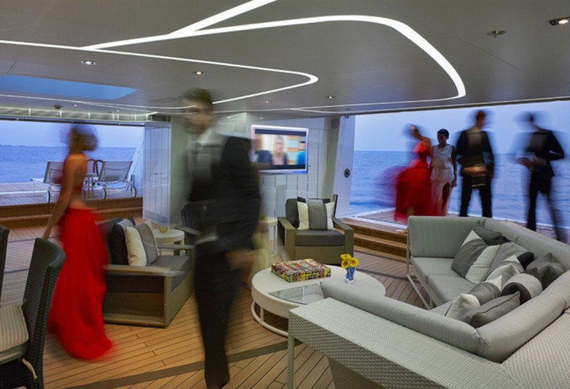 Balconies and beach clubs are trending on modern mega yachts