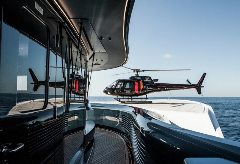 Flights of Fancy – luxury yacht charters soar with a helicopter