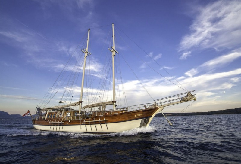 Gulet LIBRA: Available July 17 - 14, Dubrovnik to Split and July 14 - 21, Split to Dubrovnik