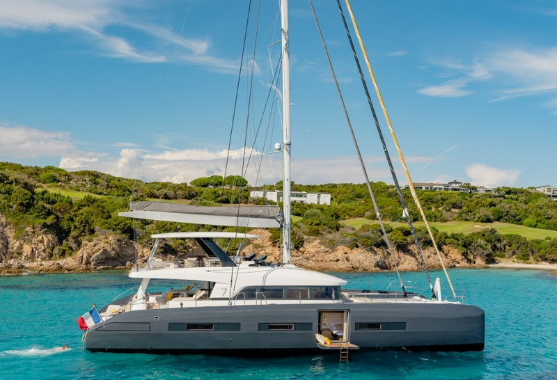 BABAC, the first Lagoon Seventy7 sailing catamaran for charter