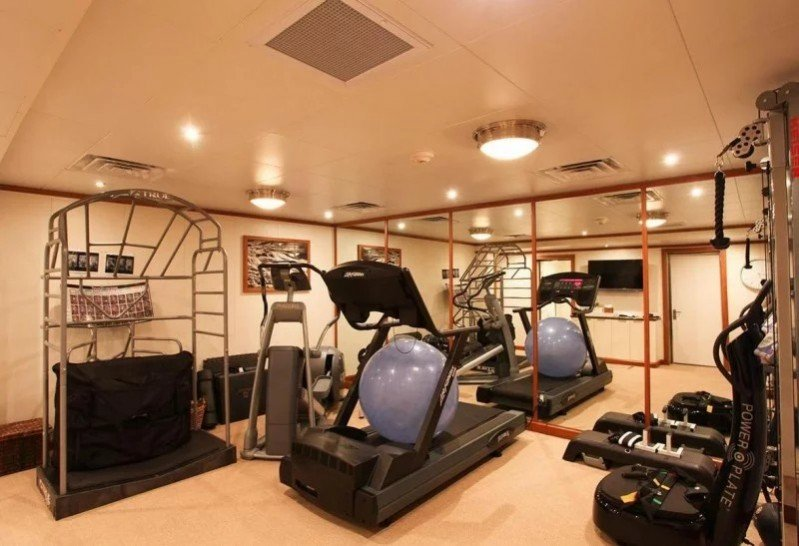 Gyms offer fitness and fun on luxury charter yachts