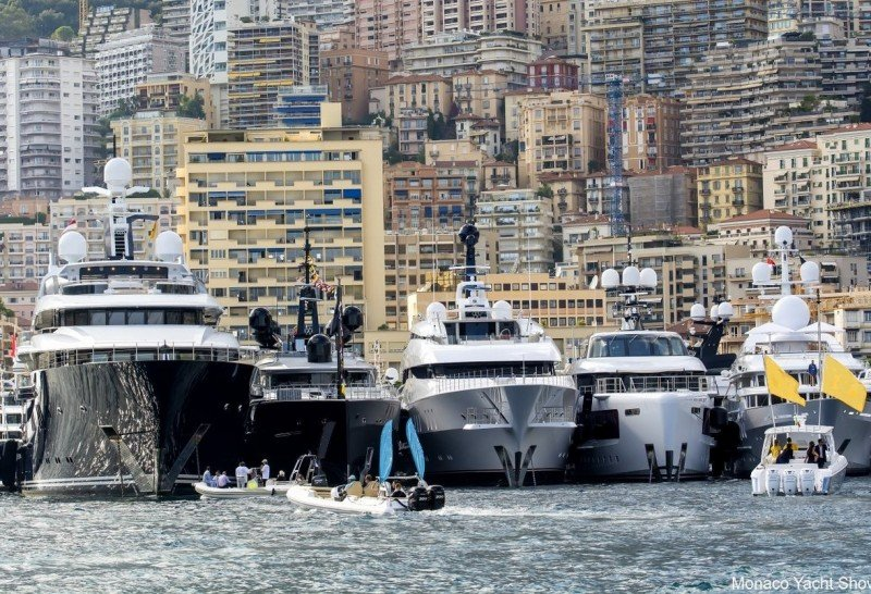 Meet us inspecting the Mega Yachts at the Monaco Yacht Show