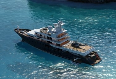 PLANET NINE is a 5-deck, 73m ice-class megayacht
