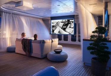 Luxury Charter Yachts with the Best Big Screens