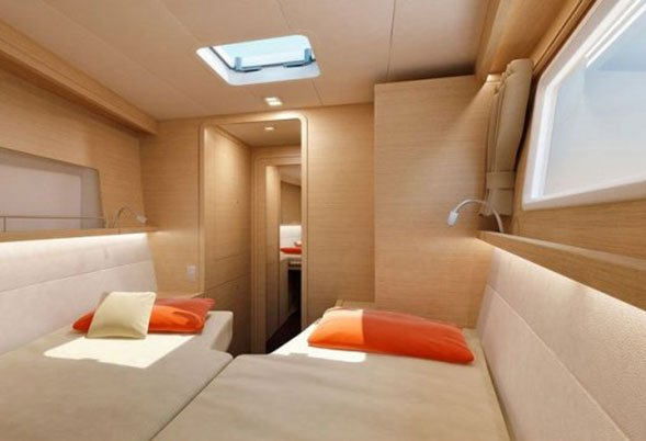 Okeanos twin converts to a double cabin
