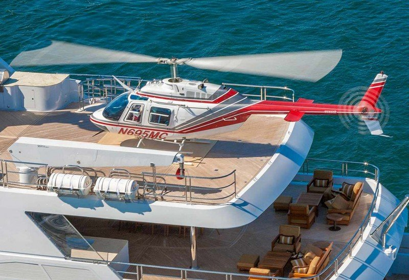 Helicopters: ultimate luxury charter yacht toys