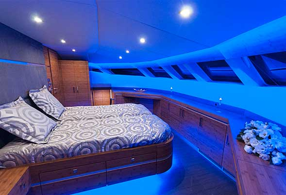 Skylark master cabin with lights