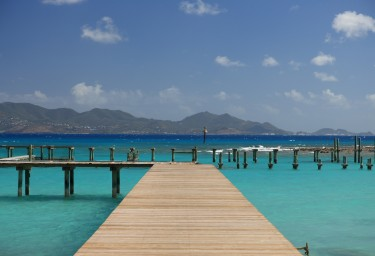 Anguilla Jetty with Views to St Martin