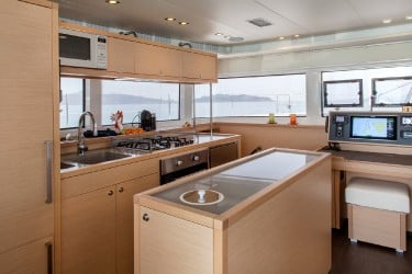 Sailing Charter Catamaran SERENITY Open Galley