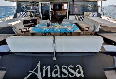 ANASSA Aft Deck Dining and Lounging