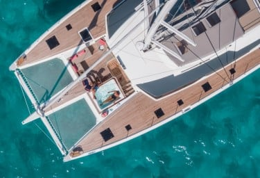 NUMBER ONE Foredeck Aerial View