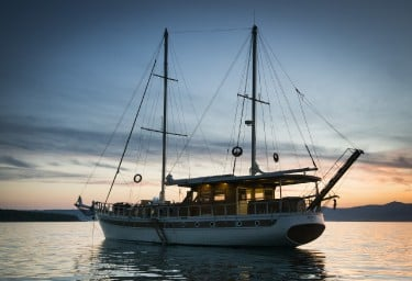 Charter Gulet ABORDA At Sunset