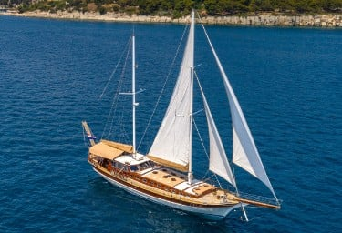 Charter Gulet ANGELICA Under Sail