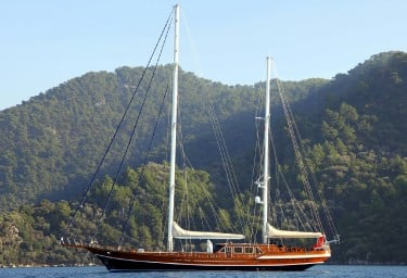 QUEEN OF DATCA At Anchor