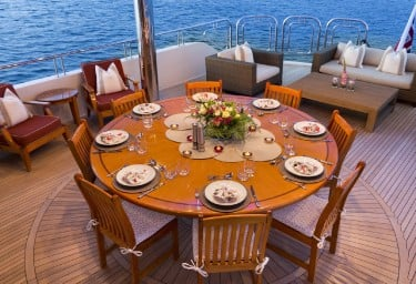 FAR FROM IT Mid-level Aft Deck Dining