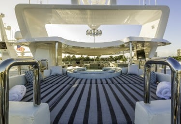 KING BABY Sundeck Aft of Jacuzzi
