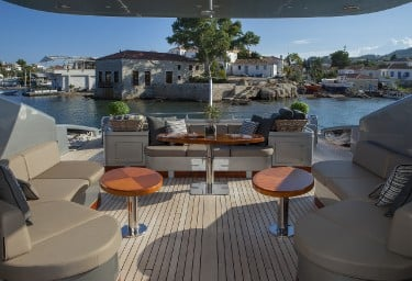 Luxury Charter Motor Yacht MY TOY Aft Deck