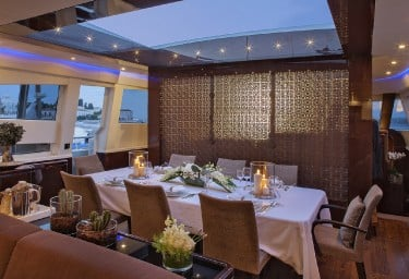 Luxury Charter Motor Yacht MY TOY Formal Dining