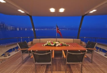 QUANTUM Aft Deck at Night