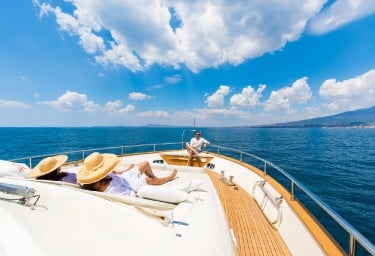 Charter Yacht RIVIERA Foredeck